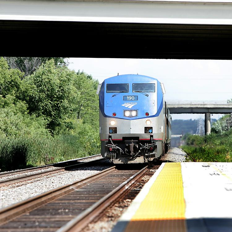 Ridership on Amtrak's Hiawatha route between Milwaukee and Chicago jumped 5.1 percent in July.