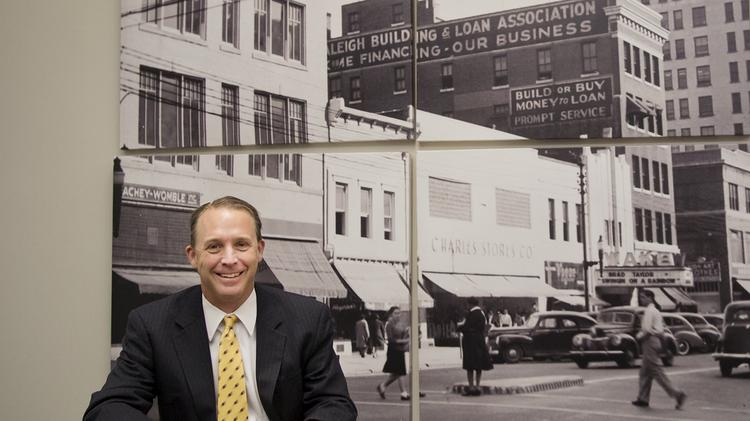 Andy Ellen, CEO of the North Carolina Retail Merchants Association, is photographed at his Raleigh office on Feb. 22.