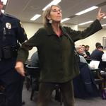 Organized protesters disrupt proceeding on Duke Energy's proposed Asheville plant