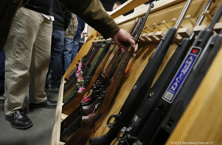 The majority of gun show dealers have agreed to state guidelines that include performing background checks on every gun sold.