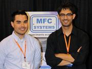 MFC Systems' co-founders Mark Sholin and Matt Dion exhibited at an industry conference in October 2015. Based in their Tempe homes, MFC Systems is designing and manufacturing diagnostic instruments used by researchers or universities who are trying to build better electricity generation and storage systems, such as for batteries and solar panels.
