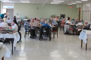 Retired members of the Sisters of St. Dominic, Racine, dine at lunch time.