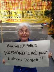 Foreclosure protesters at Wells Fargo's San Francisco headquarters Thursday.