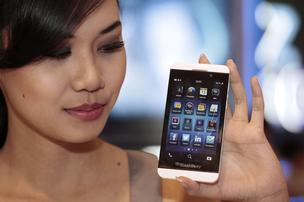 The BlackBerry Z10 smartphone hits the U.S. Friday.