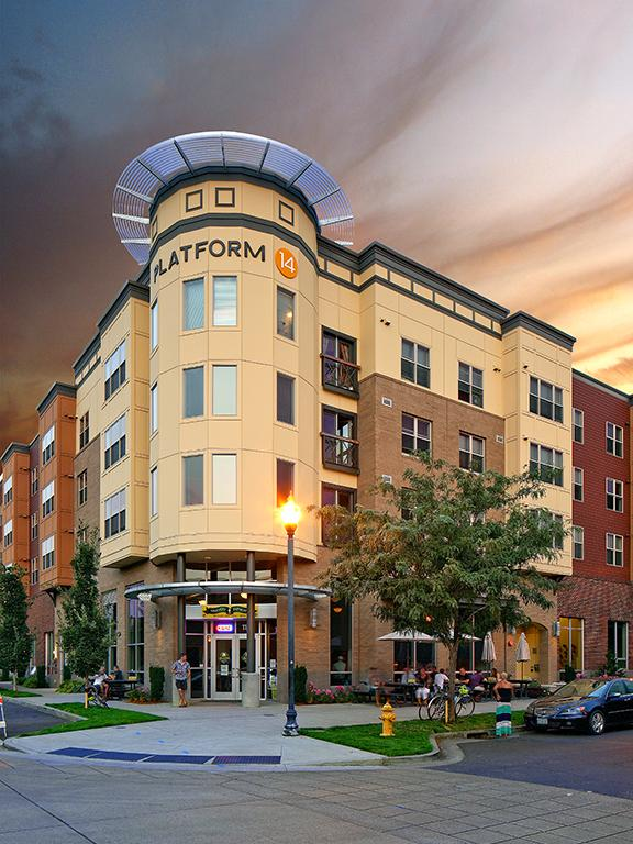 Atlanta institutional investor Invesco Real Estate has purchased Platform 14, an apartment community in Hillsboro. The deal is just the latest buy for the company, which has made at least two other metro region deals in the past year.