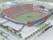 The University of Houston Cougar football team will kickoff its first game of the 2014 season in its new stadium, by designed by PageSoutherlandPage LLP and DLR Group and being built Houston-based Manhattan Construction Co., with views of the downtown skyline.