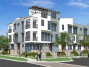 A rendering of a town home in Newark's proposed Gateway Station West project.