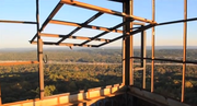 The 100-foot tower provides views of the 1,036-acre nature preserve.