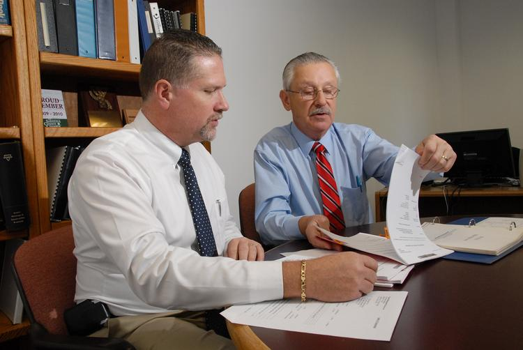 Edward Garrigan and Gary Male at C.T. Male Associates in Latham, NY