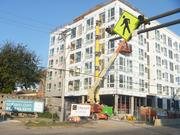 The Solhavn apartment project is being built on a former Star Tribune parking lot for employees of the adjacent printing plant and distribution center. The Star Tribune said the plant is not for sale.