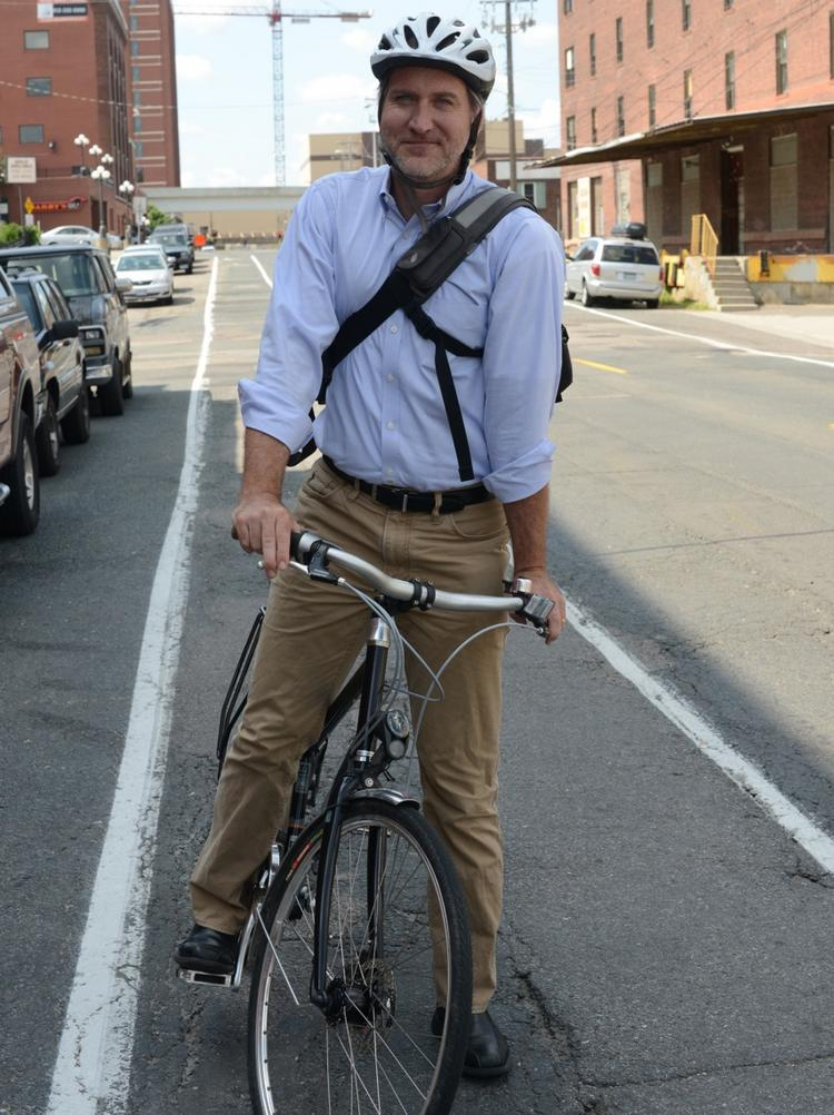 Nearly 5 percent of Minneapolis commuters ride bikes to work.