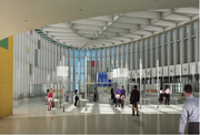 The new construction will include a new passenger security screening checkpoint with 10 lanes and a larger customs area designed with the latest standards.