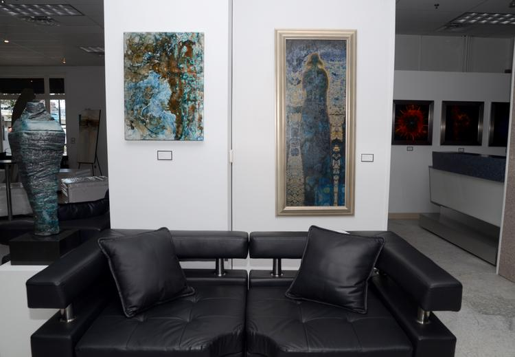 Stylish settings and contemporary art fill Jai Gallery.