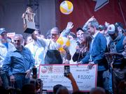 Iron Chef Morimoto, was the winner of the the 10th Annual Amstel Light Burger Bash, Peoples Choice Award, during the South Beach Wine and Food Festival.