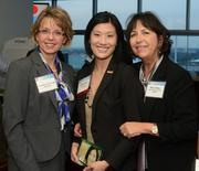 Christine Hobrough, honoree Heidi Brophy, and Mary Volker, all of US Bank.