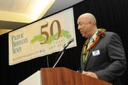 Pacific Business News Publisher Bob Charlet welcomes the Hawaii small business owners being honored at the PBN Hawaii's Fastest 50 event at the Hawaii Convention Center.