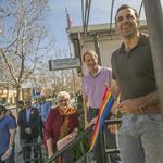 A touch of color and reason to celebrate on The Alameda