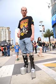Mark Johnson of Sarasota was well-dressed for his fourth KISS concert.