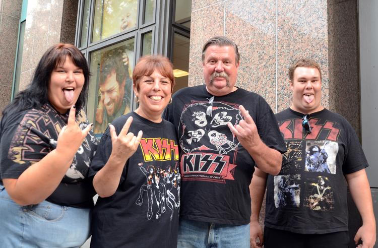 From left: Tamara and Sandy Pike, Terry Klis and Seth Pike make their way to the Amway Center for the KISS concert — as if you couldn't guess. The Lake Mary family was attending their first KISS concert.