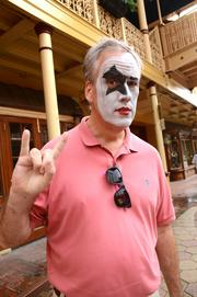 """Lake Mary resident John Katker attended his first KISS concert in a self-proclaimed """"country club KISS"""" outfit. Katker isn't a KISS fan but, as he put it, """"ya gotta see a KISS concert once in your life."""""""