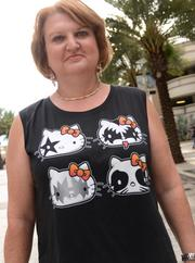 Longtime KISS fan Elizabeth Brown came from Wesley Chapel to see the show. And sported a Hello Kitty KISS shirt that's probably getting some *squees* right now. You know you did.