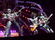 Gene Simmons, Tommy Thayer and Paul Stanley. Yeah, that's pretty cool.