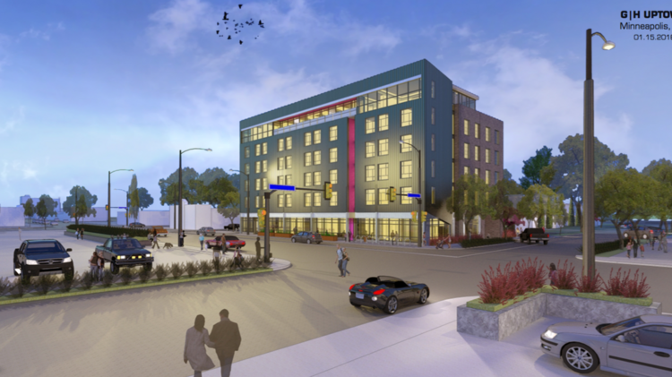 A Rendering Of The Proposed Marriott Moxy Hotel In Uptown