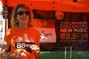 """Anne Noyes from radio station WYMS-FM """"88Nine"""" helped support the event."""