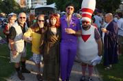 Local fans participated in a costume contest based on their favorite movie characters.