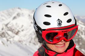 Naomi Simson, minutes before she faced her fear and tried heliskiing for the first time.