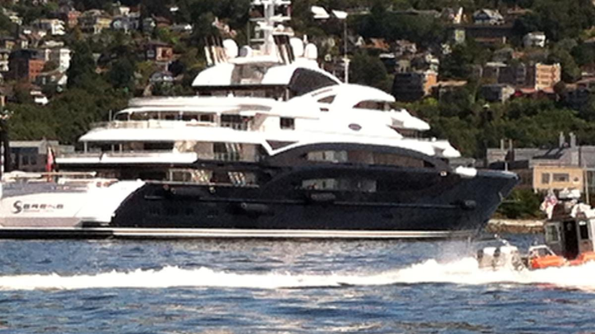 As Bill Gates Lounges Aboard The 440 Foot Serene Super Yacht In