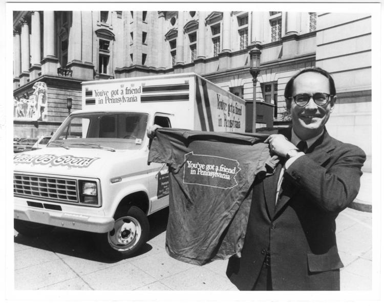 "The ""You've Got a Friend in Pennsylvania"" campaign launched when Richard Thornburgh was governor. He later found himself defending its grammar."
