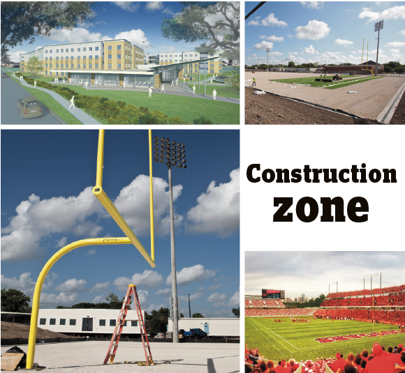 New football stadiums at University of Houston and Houston Baptist University, as well as construction projects at Rice and TSU are all aimed to raise student engagement.  Click through the slideshow to see construction projects.