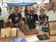 Righteous Felon Jerky Cartel displayed at Brooklyn Flea at the Piazza in Northern Liberties.