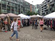 Brooklyn Flea continued to attract crowds at the Piazza in Northern Liberties this weekend with its selection of salvage and vintage items.