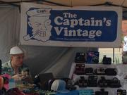 The Captain's Vintage displayed at Brooklyn Flea at the Piazza in Northern Liberties.