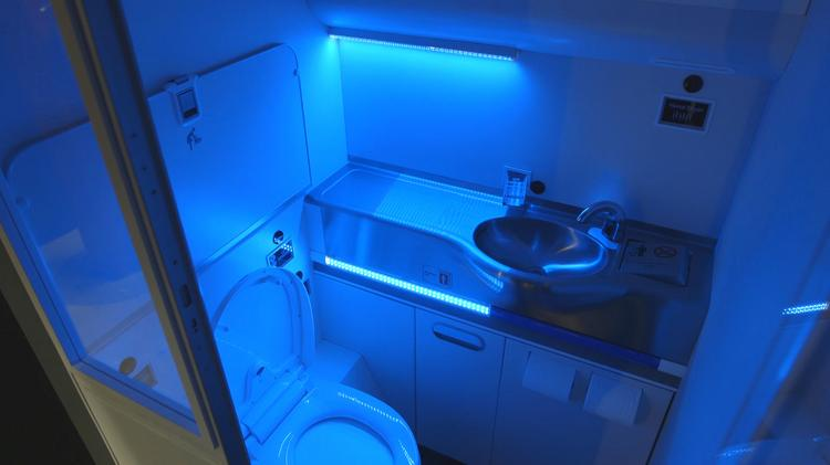 Boeing said it's invented a self-cleaning airplane restroom that uses ultraviolet light to clean surfaces.