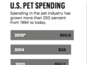 Spending in the pet industry has grown by more than 250 percent in the last 20 years.
