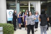 A wave of more than 300 Covered California service center staff showed up early Monday for their first day of training in Rancho Cordova.More than 500 people are expected to work at the call center by the end of 2013, depending on the demand for services.