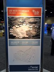 DDR Corp. shared marketing materials from its renamed Lee Vista Promenade project near Orlando International Airport at the ICSC Florida Conference.