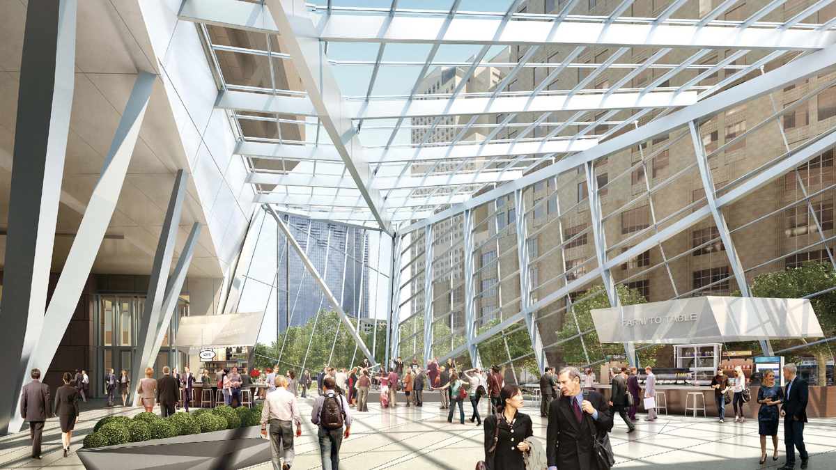 Boston Properties Gets Design Ok For Glass Atrium At 100