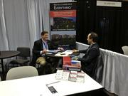 The dealmaking started early for HFF's Brad Peterson, meeting with a representative from Inland Real Estate at the ICSC Florida Conference.