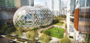 This shows the previous design of the spheres, which will front Lenora Street between Sixth and Seventh avenues.