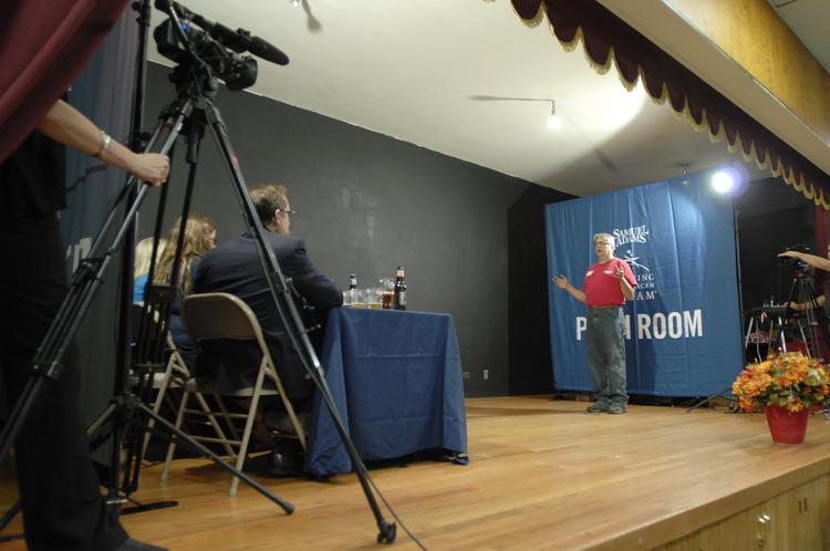 Rick Abitbol of Brewery Rickoli in Wheat Ridge, pitches his business to a panel of officials assembled by Boston Beer Co. in Denver in August 2013.