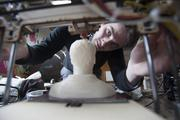 """Jesse DePinto creates a 3-D """"printout"""" of his own bust.  Click here for story."""