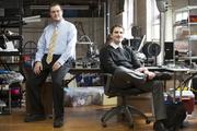 Matthew Juranitch and Jesse DePinto of 3D Creations LLC, from left  Click here for story.