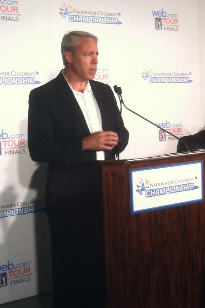Nationwide Mutual Insurance Co.'s John Aman touted the progress of the Nationwide Children's Hospital Championship during a press conference Tuesday.