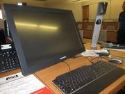 One of the professor stations in a classroom. Professors will be able to write directly on the touchpad monitor, adjusting the notes during class.