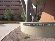 McCord Hall (right), the newest building of the W.P. Carey School of Business at Arizona State University, sits adjacent to the old building (left), on Lemon Street.