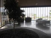 On the fourth floor in between the two wings sits a small patio for students. It looks over ASU's recreational fields.